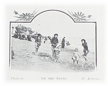 small children at the turn of the twentieth century with their older siblings on Southwold sands