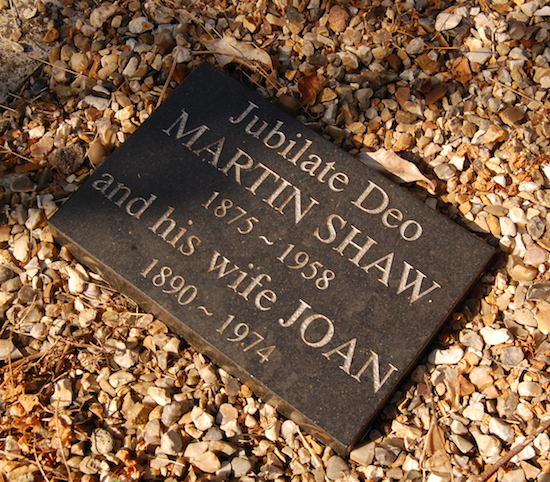 black memorial stone with text